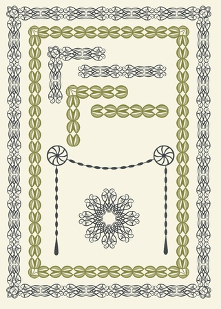 Collection of elegant borders and frames