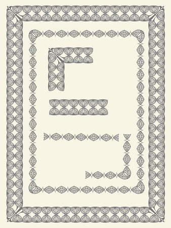 Frame and border elements Stock Vector - 10348323