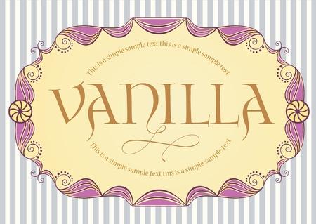 sample text: Vintage etiqueta con texto de ejemplo Vectores