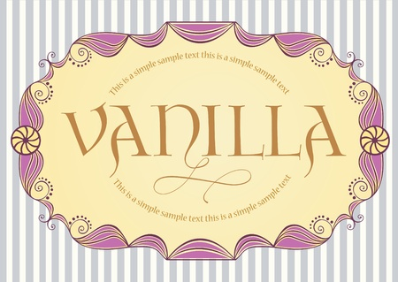 Vintage label with sample text