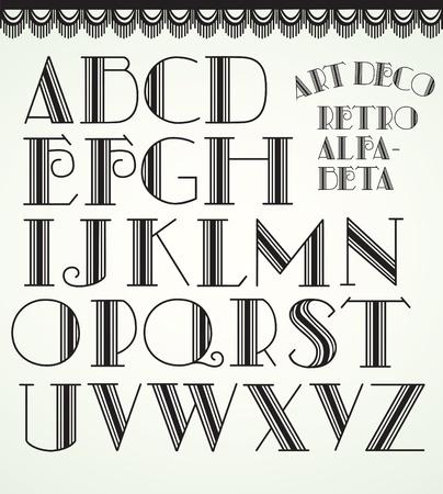 Art deco alphabet Stock Vector - 10454147