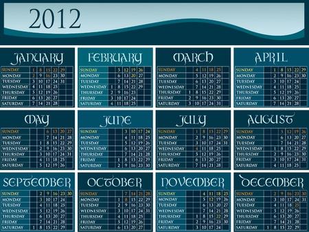 US calendar 2012 Illustration
