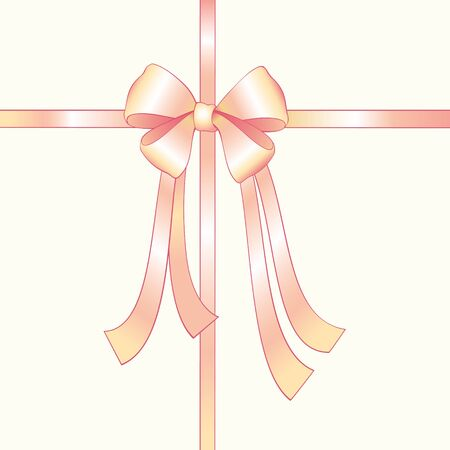 wrapped gift: Pink silk bow Illustration