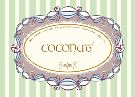 Cute vintage label with sample text Vector