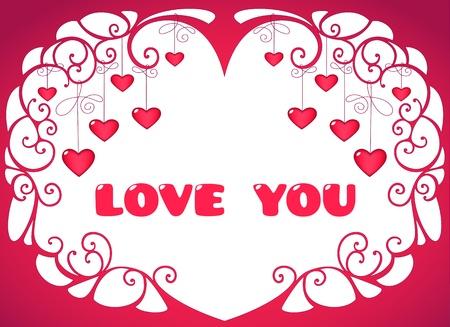 Valentine hearts background Stock Vector - 11936336