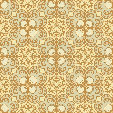 Seamless damask pattern vintage style Vector