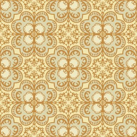 medallion: Seamless damask pattern vintage style