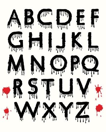 blood type: Chorreando sangre alfabeto