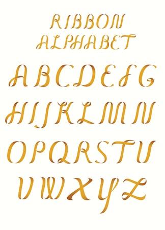 Ribbon alphabet Stock Vector - 17324219
