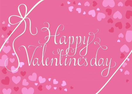 swashes: Happy Valentines day script on heart background