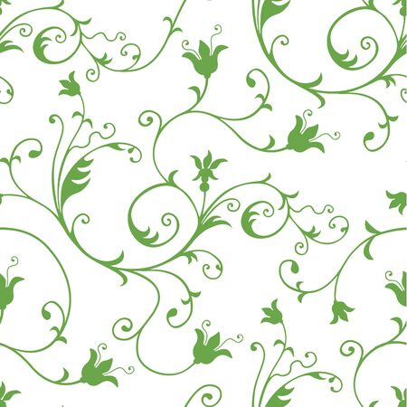 creeper: Seamless Floral wallpaper pattern Illustration