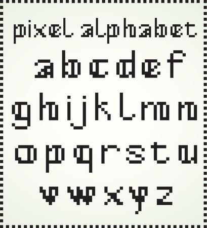 loser: Pixel Alphabet, loser case letters