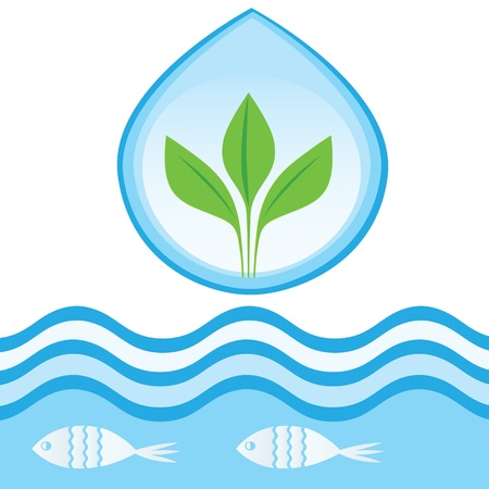 leaf water drop: Symbols for Sustainable Development