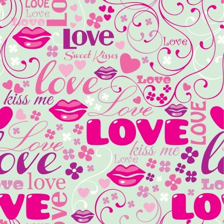 Seamless Love Pattern Stock Vector - 20321969