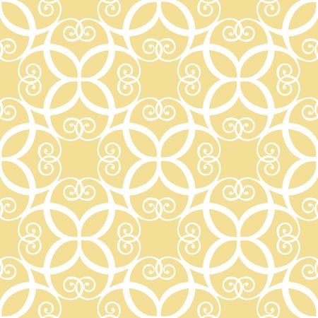 Seamless symmetric white and yellow pattern 向量圖像