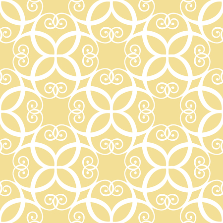 Seamless symmetric white and yellow pattern Illustration