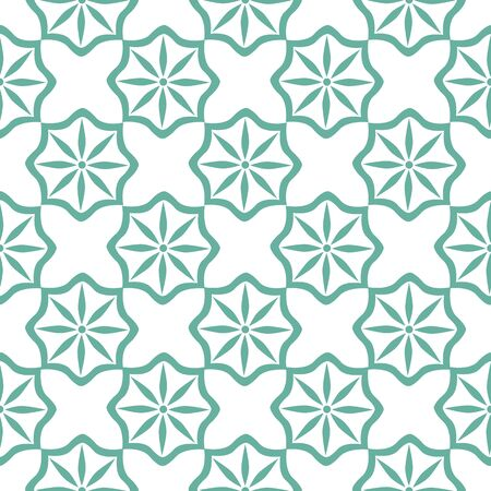 Seamless Tiling Pattern Moroccan Style Illustration