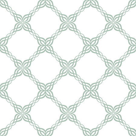 tile pattern: seamless ornate symmetric green and white tile pattern