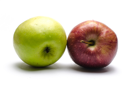 things that go together: Colorful apples Stock Photo