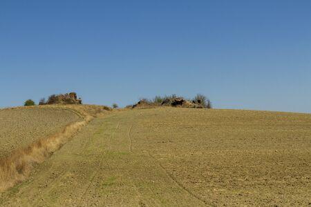campo coltivato con rudere