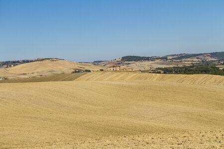 campagna toscana en provincia di siena Foto de archivo