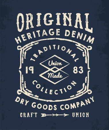 Vector graphic for fashion and printing. Vintage effects are easily removable.