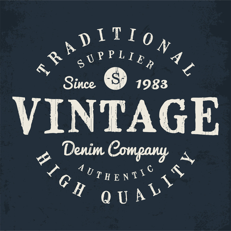 Vector graphic for fashion or printing, Vintage effects are easily removable.