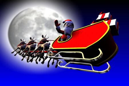 Santa is going to moon