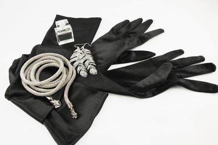 black gloves: Elegant black gloves