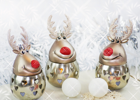 Christmas reindeer on white background Stock Photo
