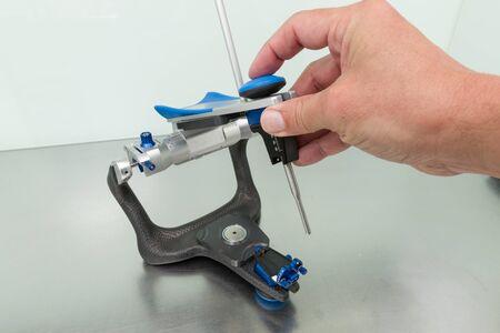 articulator: articulator in a dental laboratory Stock Photo