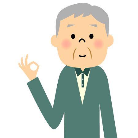 citizen: Senior citizen, OK Illustration