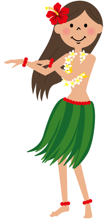 exotic dancer: Hula Girl