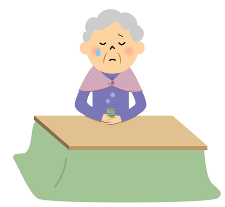 女性高齢者、孤独  イラスト・ベクター素材