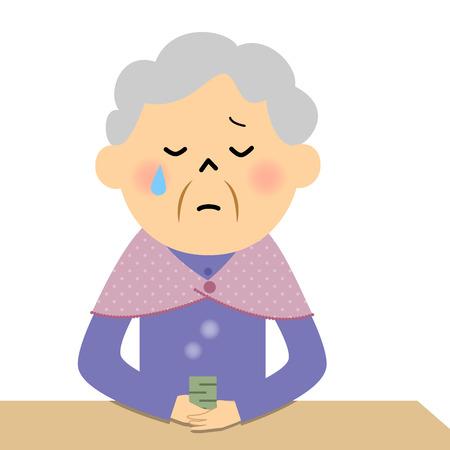 Female senior citizen, Lonely