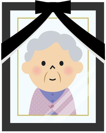 deceased: Portrait of deceased person photo