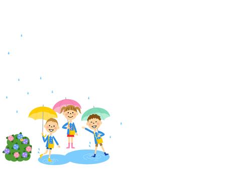 rainy day: Kindergarteners our rainy day