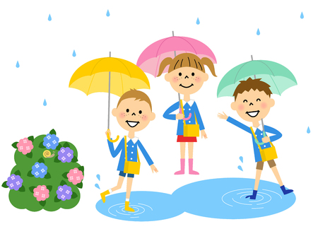 child laughing: Kindergarteners our rainy day