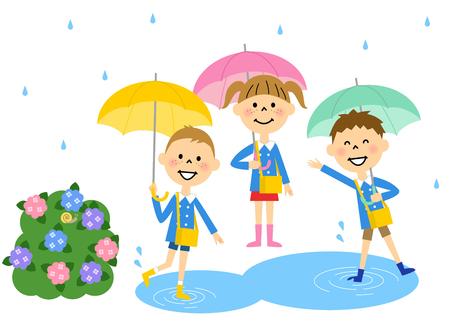 Kindergarteners our rainy day
