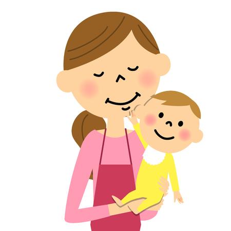 creche: Womens apron that entertain the baby