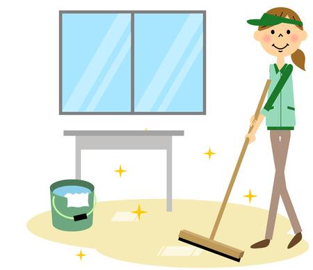 Limpieza de oficinas Ilustración de vector