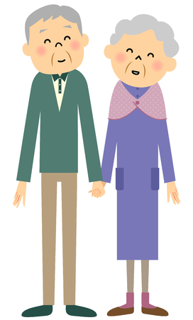 snuggle: Elderly couple Illustration