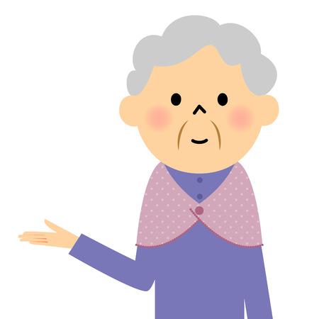 the explanation: Female senior citizen, Description