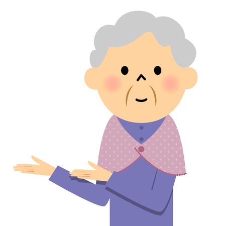 mujer anciana, Descripción