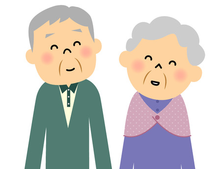 happy mature couple: Elderly couple Illustration