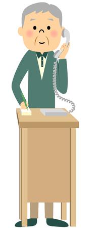 citizen: Senior citizen, Phone Illustration