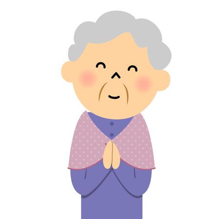Female senior citizen, Happy