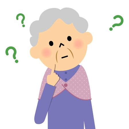 Female senior citizen, Question Иллюстрация