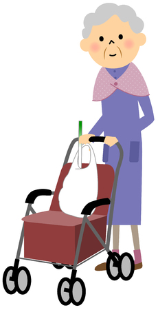 wheeled: A wheeled walker for the elderly