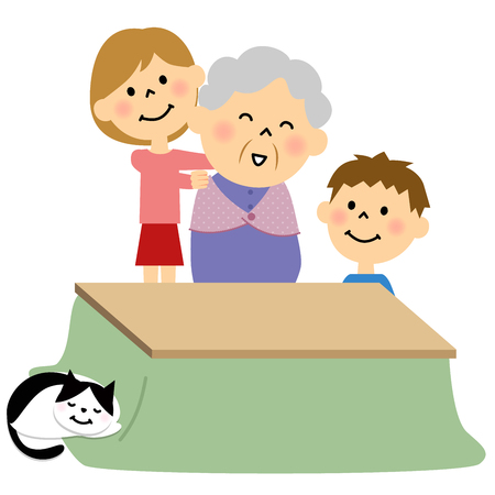 grandchild: Grandpm and a grandchild Illustration